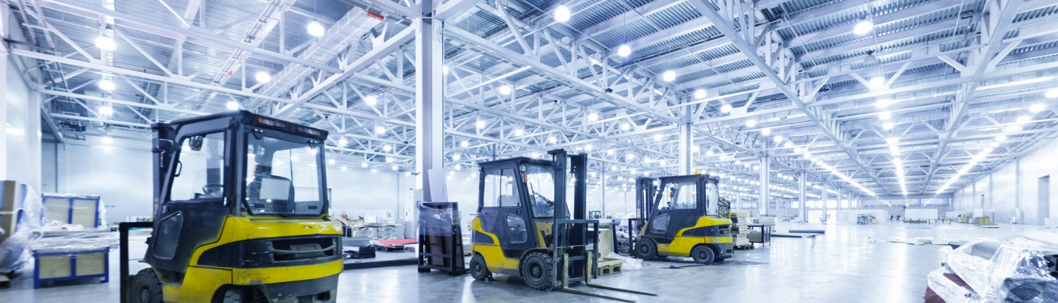 LED lighting warehouse for carbon reduction